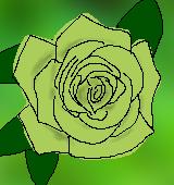 バラ緑の中イラスト