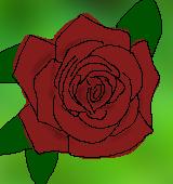 茶のバラのイラスト
