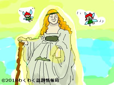 花の女神フローラのイラスト