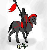 騎士とクリスマスローズのイラスト