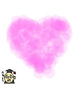 ピンク色のハートのイラスト