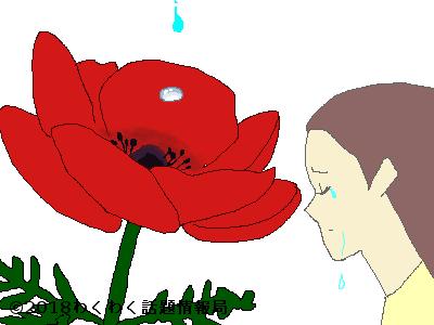 泣くアネモネのイラスト
