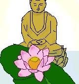 蓮と仏像のイラスト