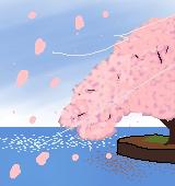 桜が散るイラスト