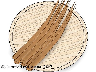 ゴボウのイラスト