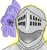 騎士の兜のイラスト
