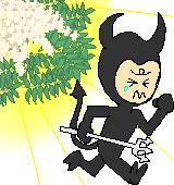 悪魔を追い払うナナカマドのイラスト