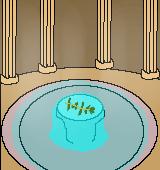 ギリシャの浴場のイラスト