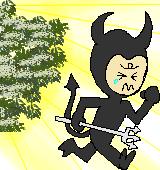 悪魔を払うイラスト