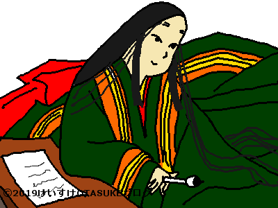 紫式部人物のイラスト