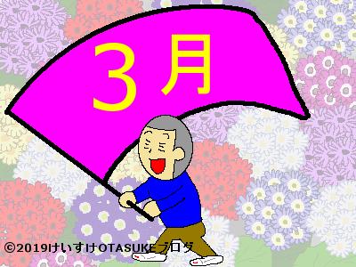 3月の誕生花と花言葉のイラスト