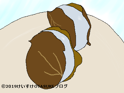 サルトリイバラのかしわ餅のイラスト