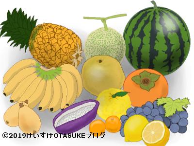 果物フルーツのイラスト
