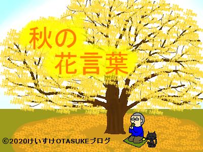 秋の花言葉のイラスト
