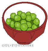 うぐいす豆のイラスト
