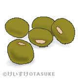 緑豆のイラスト