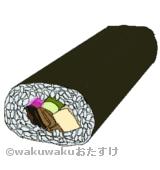 巻き寿司のイラスト