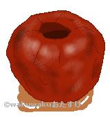 焼き林檎のイラスト