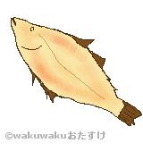柳カレイのイラスト
