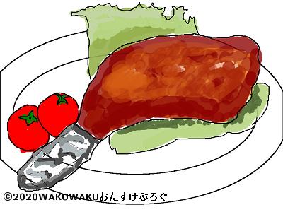 モモ肉のイラスト