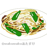 野菜炒めのイラスト