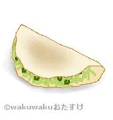 洋食焼きのイラスト