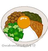 ネバネバ丼のイラスト