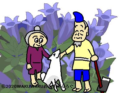 敬老の日の花言葉イラスト
