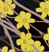 黄梅のイラスト